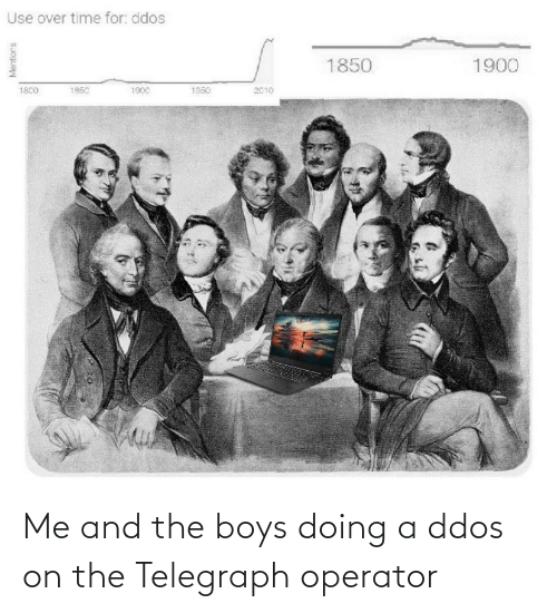 Telegraph: Me and the boys doing a ddos on the Telegraph operator