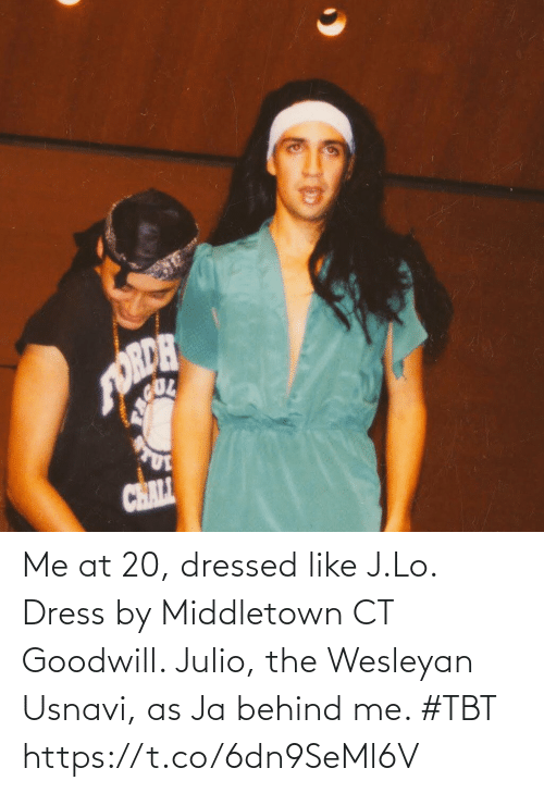 Dressed: Me at 20, dressed like J.Lo. Dress by Middletown CT Goodwill. Julio, the Wesleyan Usnavi, as Ja behind me. #TBT https://t.co/6dn9SeMl6V