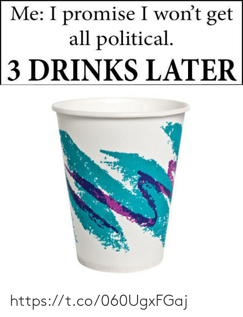 political: Me: I promise I won't get  all political.  3 DRINKS LATER https://t.co/060UgxFGaj