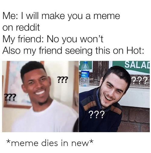 Me I Will Make You a Meme on Reddit My Friend No You Won't Also My