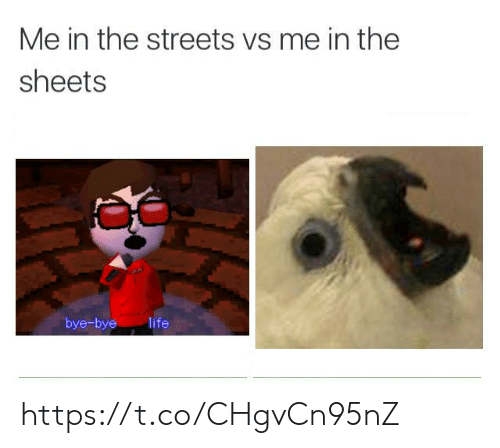 bye bye: Me in the streets vs me in the  sheets  bye-bye  life https://t.co/CHgvCn95nZ