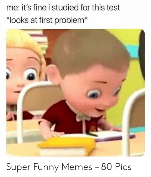 "Super Funny Memes: me: it's fine i studied for this test  ""looks at first problem Super Funny Memes – 80 Pics"
