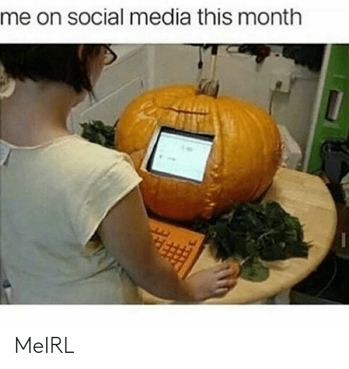 Social Media, MeIRL, and Media: me on social media this month MeIRL