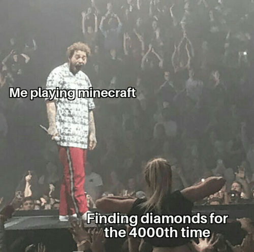 playing: Me playing minecraft  Finding diamonds for  the 4000th time