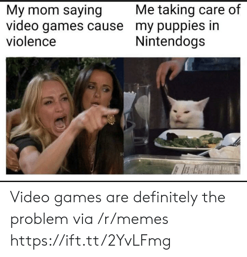 Puppies: Me taking care of  My mom saying  video games cause my puppies in  violence  Nintendogs Video games are definitely the problem via /r/memes https://ift.tt/2YvLFmg
