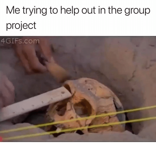 Help, Com, and Project: Me trying to help out in the group  project  4GIFs.com