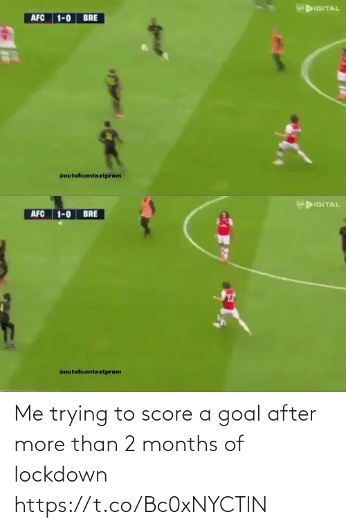 🤖: Me trying to score a goal after more than 2 months of lockdown  https://t.co/Bc0xNYCTlN