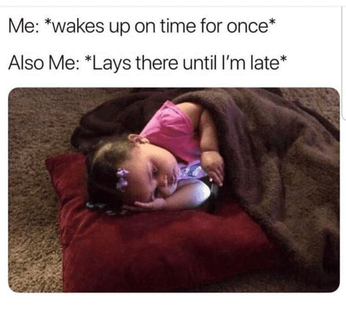 """Funny, Lay's, and Time: Me: *wakes up on time for once*  Also Me: """"Lays there until I'm late*"""