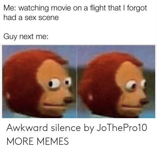 Awkward Silence: Me: watching movie on a flight that I forgot  had a sex scene  Guy next me: Awkward silence by JoThePro10 MORE MEMES