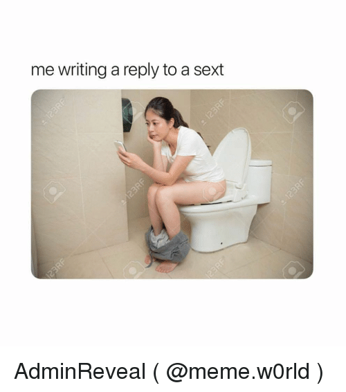 Meme, Girl Memes, and Reply: me writing a reply to a sext AdminReveal ( @meme.w0rld )