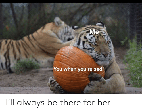 Be There: Me  You when you're sad I'll always be there for her