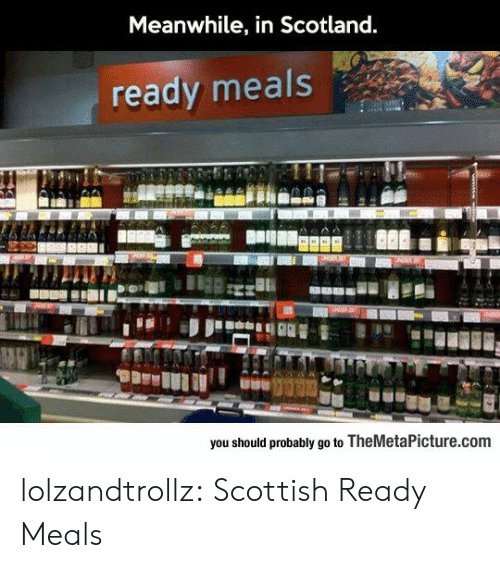 Scottish: Meanwhile, in Scotland.  ready meals  you should probably go to TheMetaPicture.com lolzandtrollz:  Scottish Ready Meals