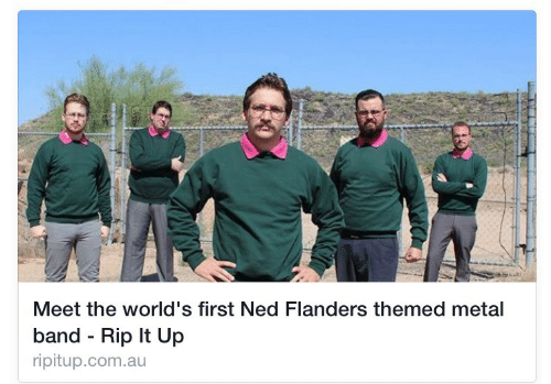 Ned Flanders: Meet the world's first Ned Flanders themed metal  band - Rip It Up  ripitup.com.au