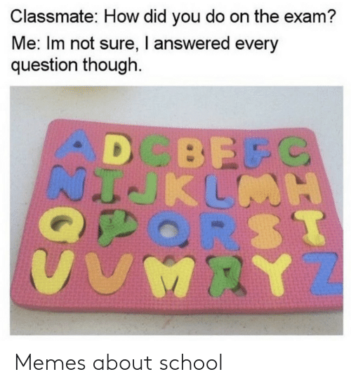 About: Memes about school
