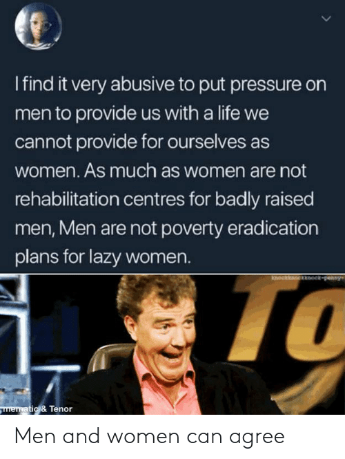 Women: Men and women can agree