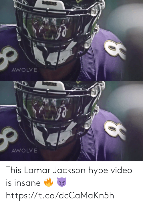 Mens: MENS  AWOLVE   MENS  AWOLVE This Lamar Jackson hype video is insane 🔥 😈 https://t.co/dcCaMaKn5h