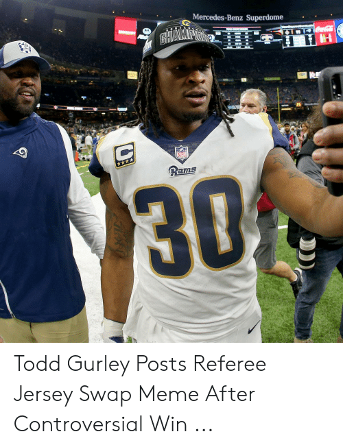 f116149c Meme, Mercedes, and Rams: Mercedes-Benz Superdome 25 Rams Todd Gurley Posts