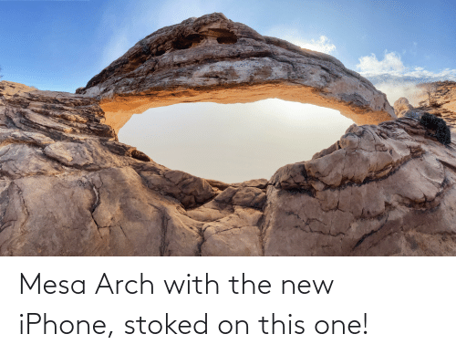the new iphone: Mesa Arch with the new iPhone, stoked on this one!
