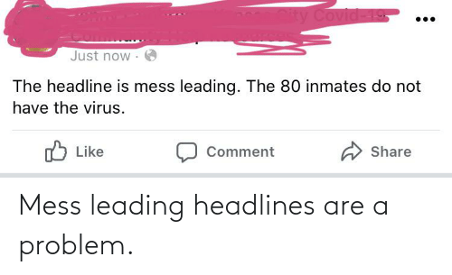 mess: Mess leading headlines are a problem.