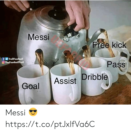 Assist: Messi  Free kick  fTrollFootball  OTheFootballTroll  Pass  Goal Assist Dribble Messi 😎 https://t.co/ptJxlfVa6C