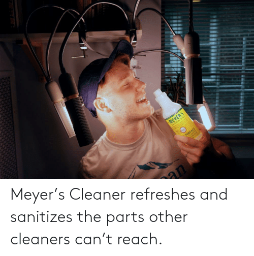 cleaner: Meyer's Cleaner refreshes and sanitizes the parts other cleaners can't reach.