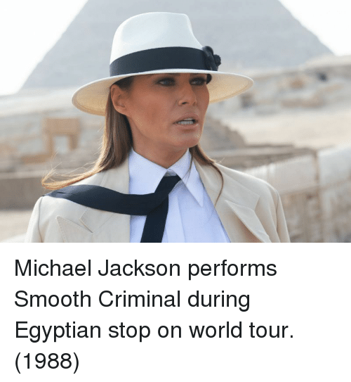 Smooth Criminal: Michael Jackson performs Smooth Criminal during Egyptian stop on world tour. (1988)