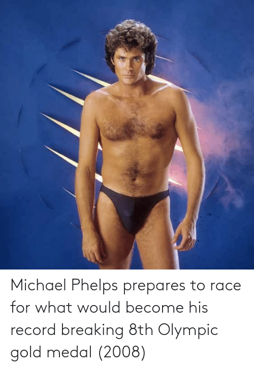 olympic: Michael Phelps prepares to race for what would become his record breaking 8th Olympic gold medal (2008)
