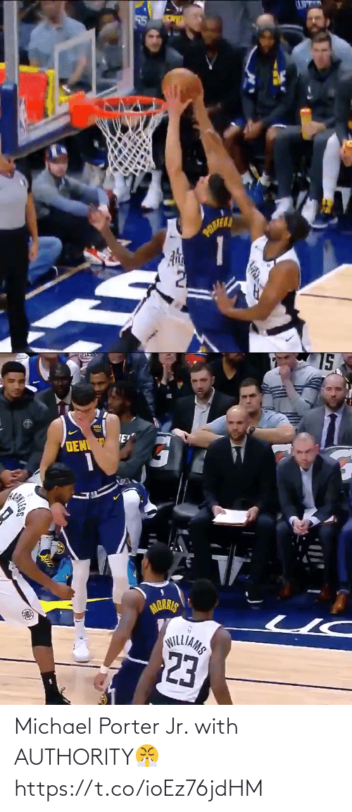 Michael: Michael Porter Jr. with AUTHORITY😤 https://t.co/ioEz76jdHM