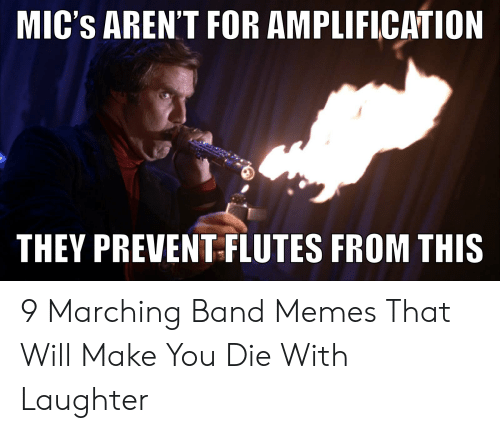 Marching Band Memes: MIC'S AREN'T FOR AMPLIFICATION  THEY PREVENT FLUTES FROM THIS 9 Marching Band Memes That Will Make You Die With Laughter