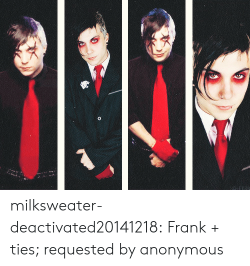 Tumblr, Anonymous, and Blog: milksweater-deactivated20141218: Frank + ties; requested by anonymous