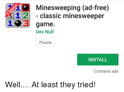 Minesweeping Ad Free 12 Classic Minesweeper Game Dev Null Puzzle
