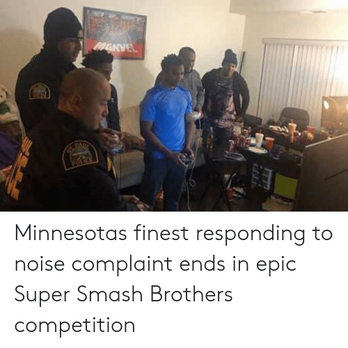 Smashing, Minnesota, and Epic: Minnesotas finest responding to noise complaint ends in epic Super Smash Brothers competition