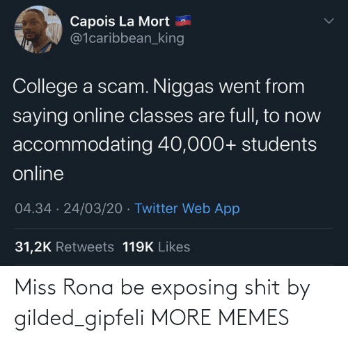 Exposing: Miss Rona be exposing shit by gilded_gipfeli MORE MEMES