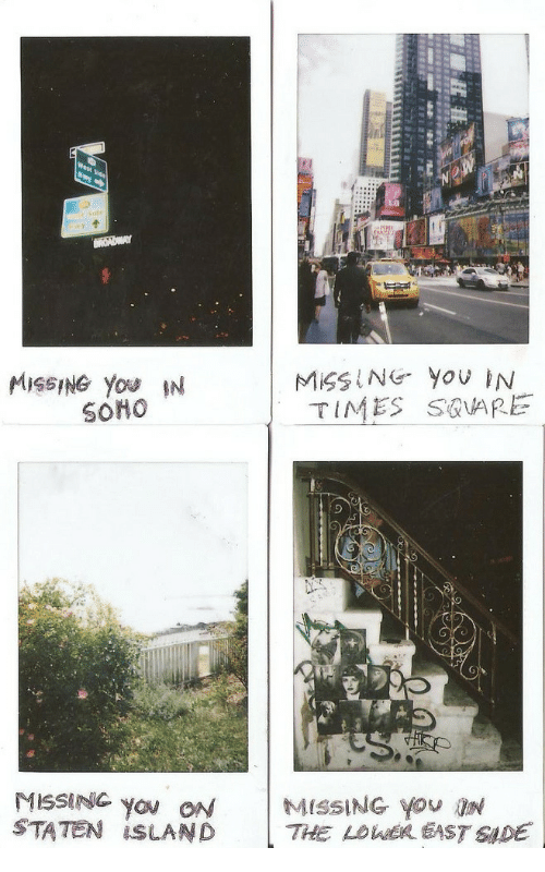 Staten Island, Island, and You: MISSING YoU IN  TIMES S@VARE  MISSING you ON  STATEN İSLAND