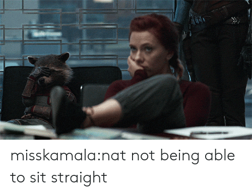 Target, Tumblr, and Blog: misskamala:nat not being able to sit straight