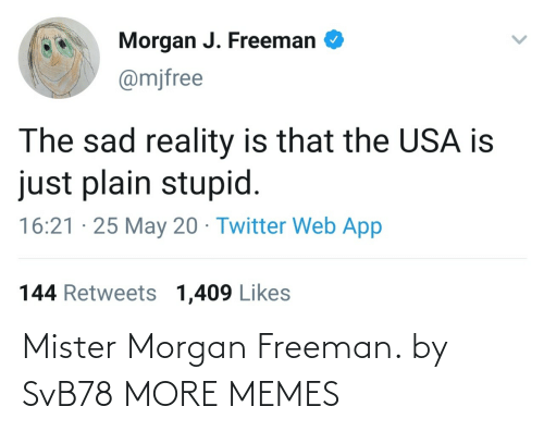 freeman: Mister Morgan Freeman. by SvB78 MORE MEMES