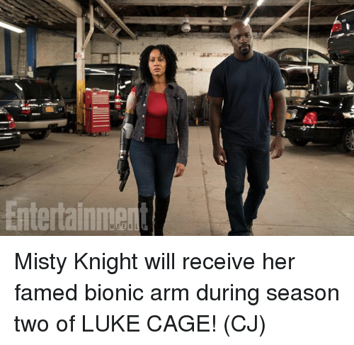 Caged: Misty Knight will receive her famed bionic arm during season two of LUKE CAGE!  (CJ)