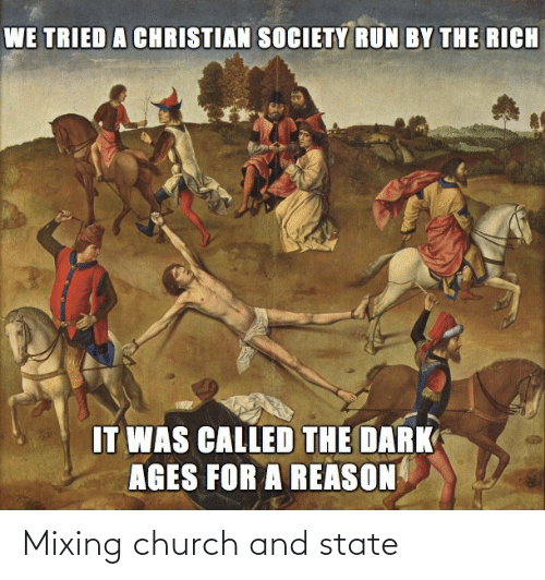 state: Mixing church and state