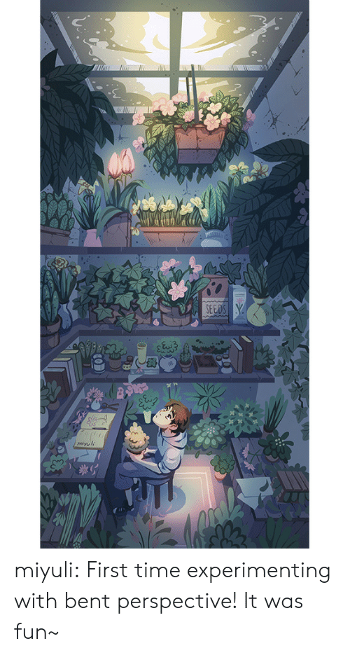 Tumblr, Blog, and Http: miyuli:  First time experimenting with bent perspective! It was fun~