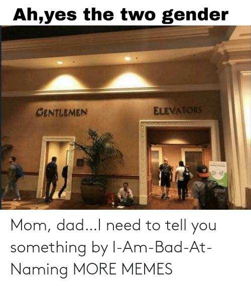 Dad: Mom, dad…I need to tell you something by I-Am-Bad-At-Naming MORE MEMES