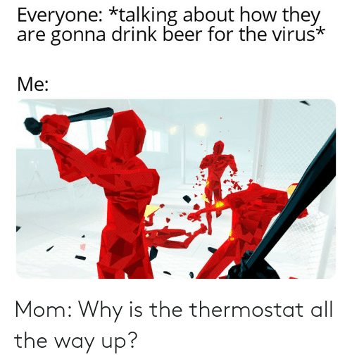 Thermostat: Mom: Why is the thermostat all the way up?