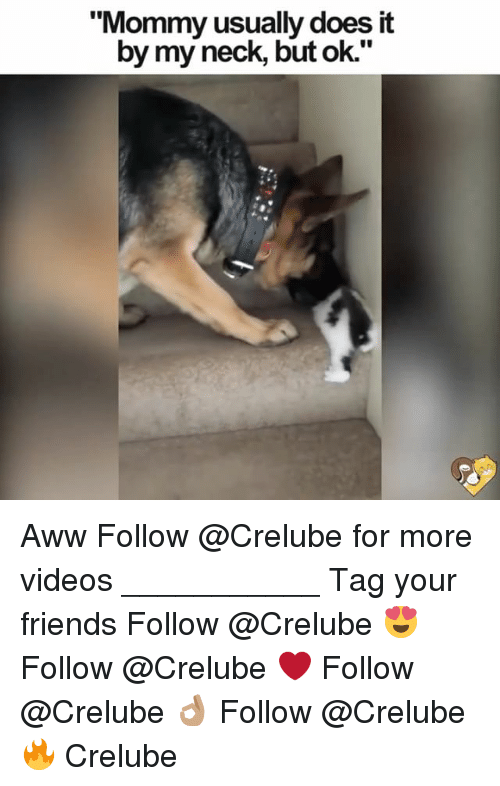 """Awwe: """"Mommy usually does it  by my neck, but ok."""" Aww Follow @Crelube for more videos ___________ Tag your friends Follow @Crelube 😍 Follow @Crelube ❤ Follow @Crelube 👌🏽 Follow @Crelube 🔥 Crelube"""
