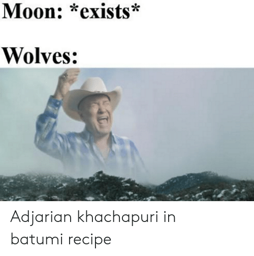 Moon, Wolves, and Com: Moon: *exists*  Wolves: Adjarian khachapuri in batumi recipe