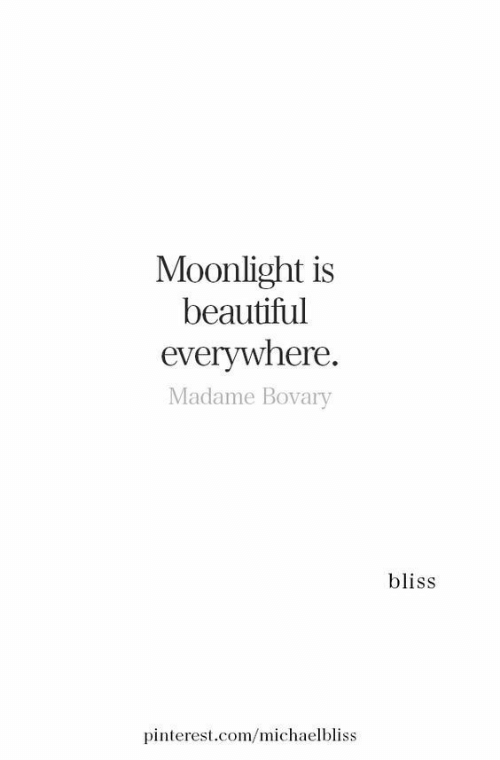Pinterest: Moonlight is  beautiful  everywhere.  Madame Bovary  bliss  pinterest.com/michaelbliss