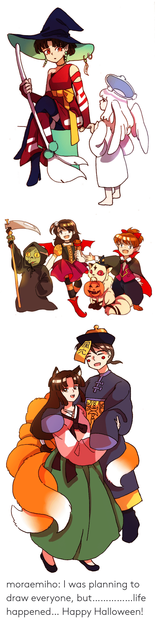 Halloween, Life, and Target: moraemiho: I was planning to draw everyone, but……………life happened… Happy Halloween!