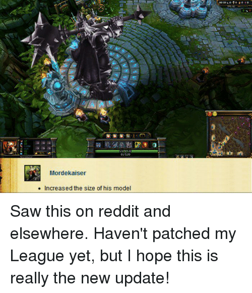 Morde Kaiser Increased the Size of His Model Saw This on