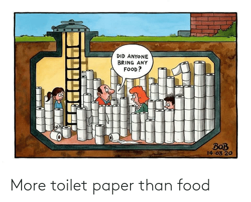 toilet paper: More toilet paper than food