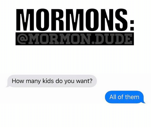 how-many-kids: MORMONS  MIORMION DUDE  How many kids do you want?  All of them