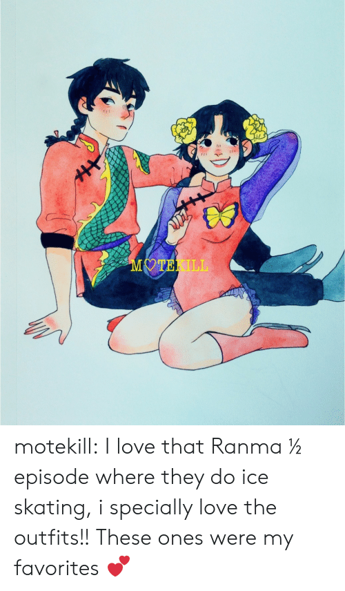 Love, Target, and Tumblr: MOTEKILL motekill:  I love that Ranma ½ episode where they do ice skating, i specially love the outfits!! These ones were my favorites 💕