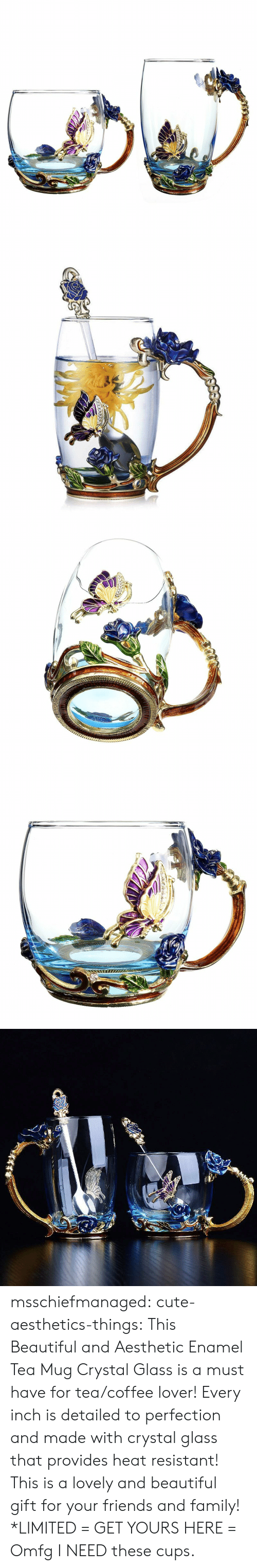 lover: msschiefmanaged: cute-aesthetics-things:  This Beautiful and Aesthetic Enamel Tea Mug Crystal Glass is a must have for tea/coffee lover! Every inch is detailed to perfection and made with crystal glass that provides heat resistant! This is a lovely and beautiful gift for your friends and family! *LIMITED = GET YOURS HERE =   Omfg I NEED these cups.